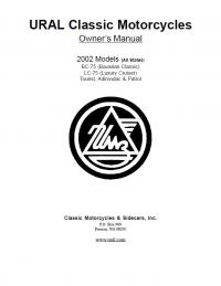 Owner's Manual. URAL Classic Motorcycles. 2002 Models